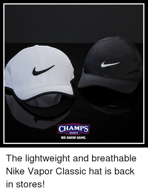 CHAMPS SPORTS WE KNOW GAME the Lightweight and Breathable Nike Vapor ... cafc87007ac