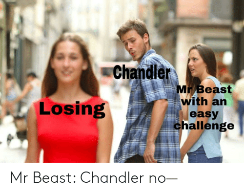 Chandler Mr Beast With an Losing Easy Challenge Mr Beast Chandler No