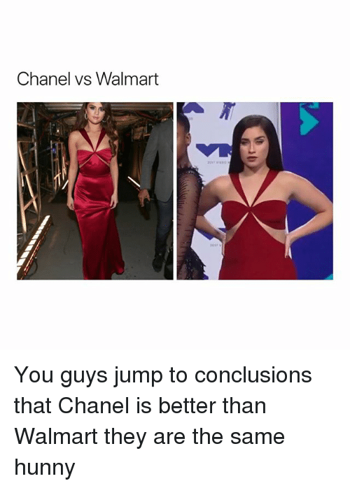 chanel vs walmart you guys jump to conclusions that chanel 27328066 25 best chanel memes rob memes, monday morning memes, harmless memes