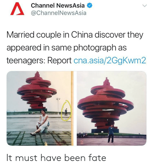 Channel NewsAsia Married Couple in China Discover They Appeared in