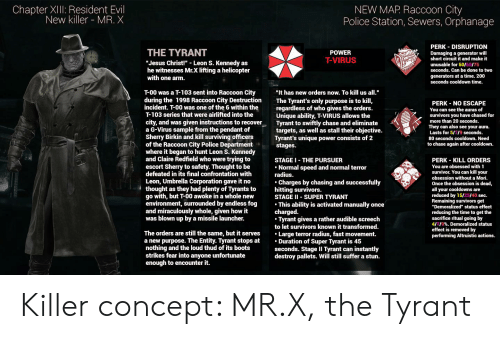 Chapter Xiiii Resident Evil New Killer Mr X New Map Raccoon City