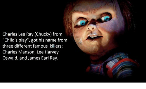 charles manson chucky Chucky's full name, charles lee ray, is derived from the names of notorious killers charles manson the movie child's play has two alternative beginnings where.
