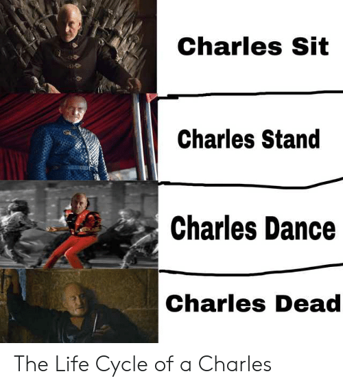 Life, Dance, and Charles Dance: Charles Sit  Charles Stand  Charles Dance  Charles Dead The Life Cycle of a Charles