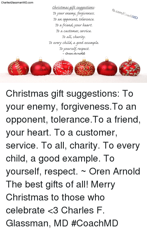 CharlesGlassmanMDcom Christmas Gift Suggestions to Your Enemy ...