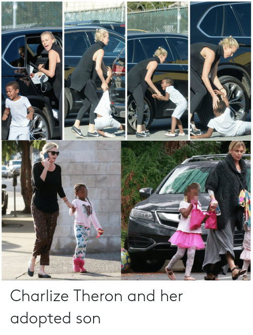 Charlize Theron And Her Adopted Son Charlize Theron Meme On Meme
