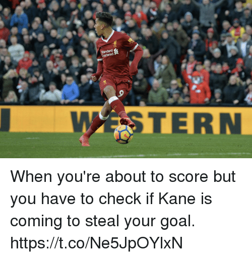 Memes, Goal, and 🤖: Chartered  WSTERN When you're about to score but you have to check if Kane is coming to steal your goal. https://t.co/Ne5JpOYlxN