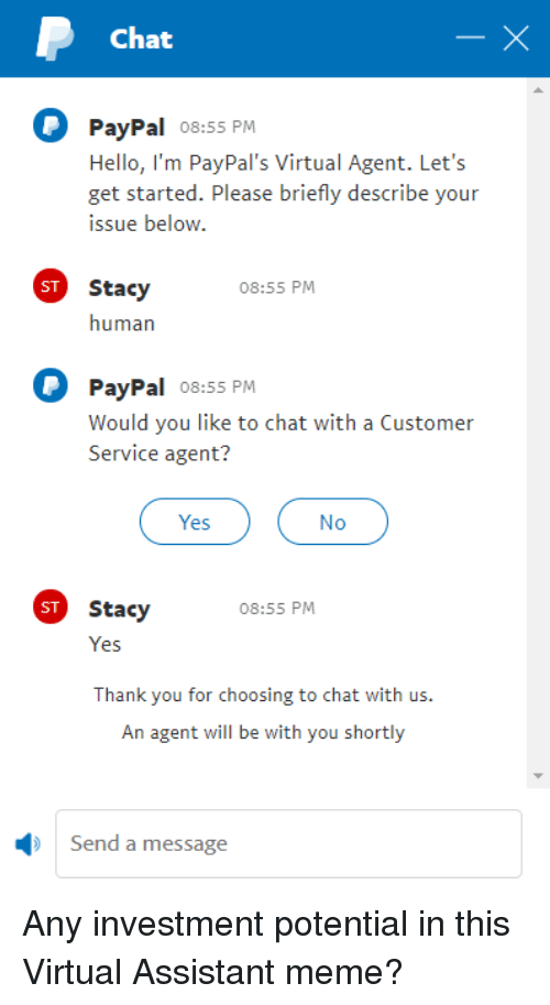 Paypal Chat