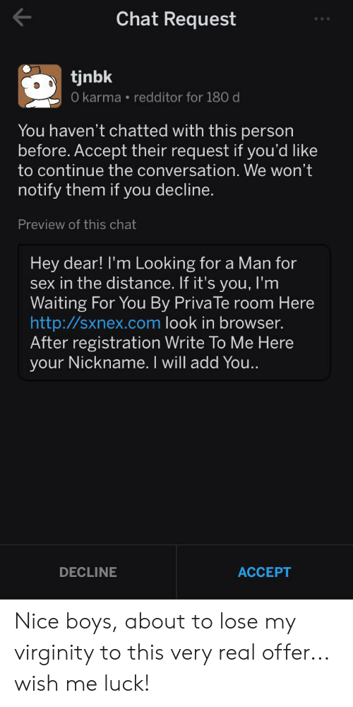 Chat request for sex