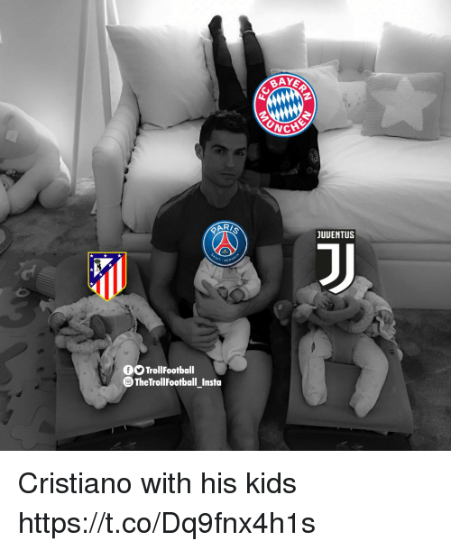 Memes, Kids, and 🤖: CHE  JUUENTUS  INT.GER  O TrollFootball  TheTrollFootball Insta Cristiano with his kids https://t.co/Dq9fnx4h1s