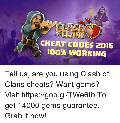 clash of clans cheat codes for gems 2015