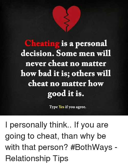 can cheating be good for a relationship