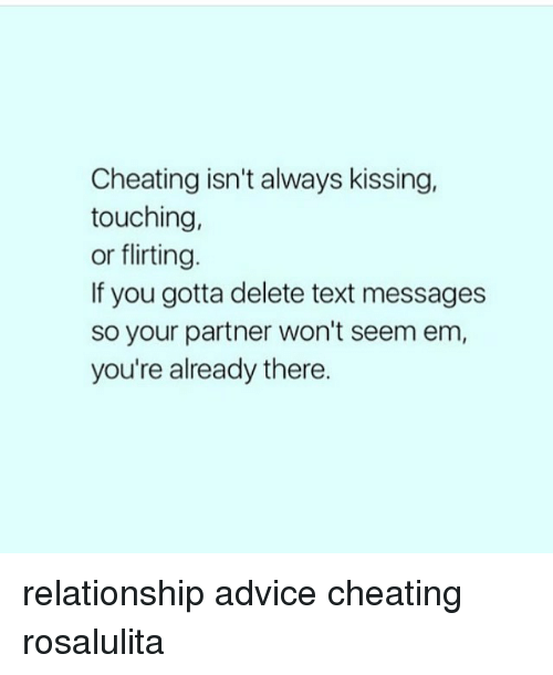 Dating advice touching