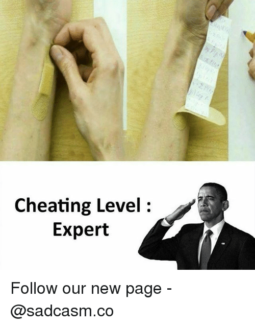 Cheating, Memes, and 🤖: Cheating Level:  Expert Follow our new page - @sadcasm.co