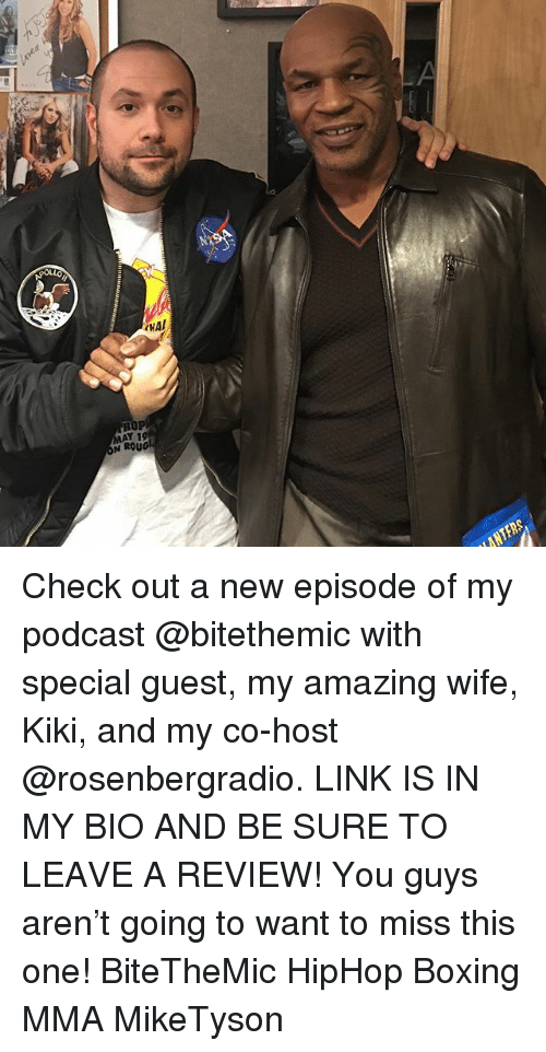 Boxing, Memes, and Link: Check out a new episode of my podcast @bitethemic with special guest, my amazing wife, Kiki, and my co-host @rosenbergradio. LINK IS IN MY BIO AND BE SURE TO LEAVE A REVIEW! You guys aren't going to want to miss this one! BiteTheMic HipHop Boxing MMA MikeTyson