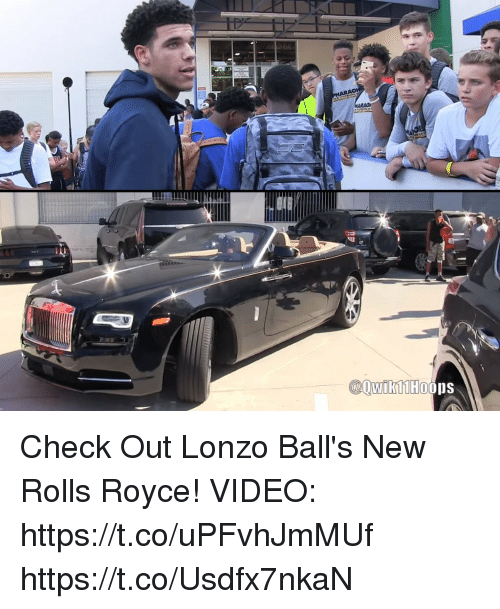 check out lonzo ball's new rolls royce! video httpstcoupfvhjmmuf