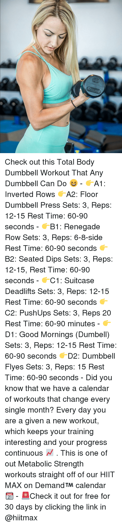 Check Out This Total Body Dumbbell Workout That Any Dumbbell