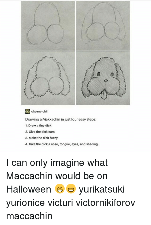 Cheena Chii Drawing A Makkachin In Just Four Easy Steps 1 Draw A