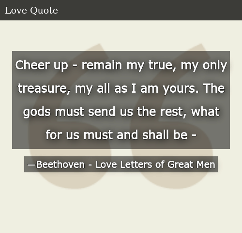 Love letters of a great man quotes