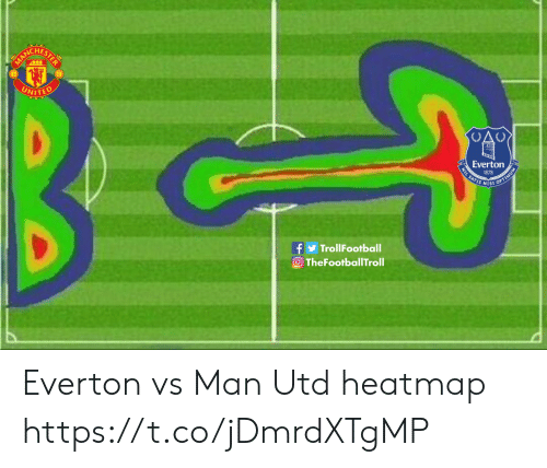Everton, Memes, and 🤖: CHES  WITED  Everton  1878  fTrollFootball  OTheFootballTroll Everton vs Man Utd heatmap https://t.co/jDmrdXTgMP