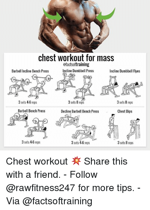 Chest Workout for Mass Ofactsoftraining Incline Dumbbell