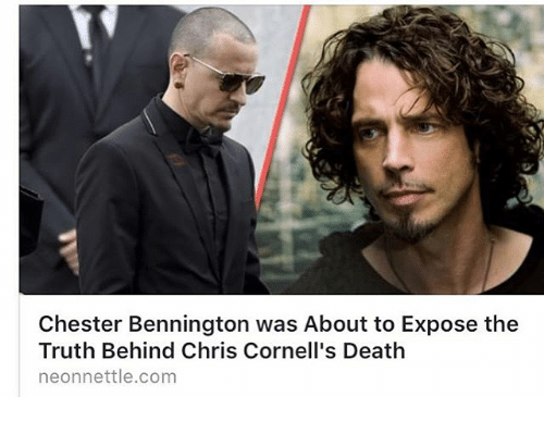 Memes, Death, and Truth: Chester Bennington was About to Expose the  Truth Behind Chris Cornell's Death  neonnettle.com
