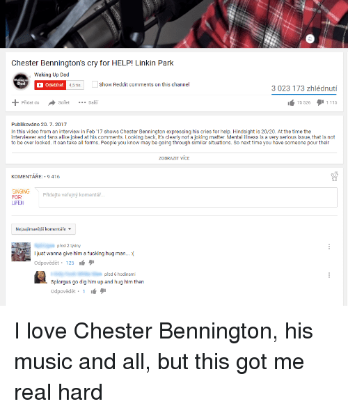 Chester Bennington's Cry for HELP! Linkin Park Waking Up Dad