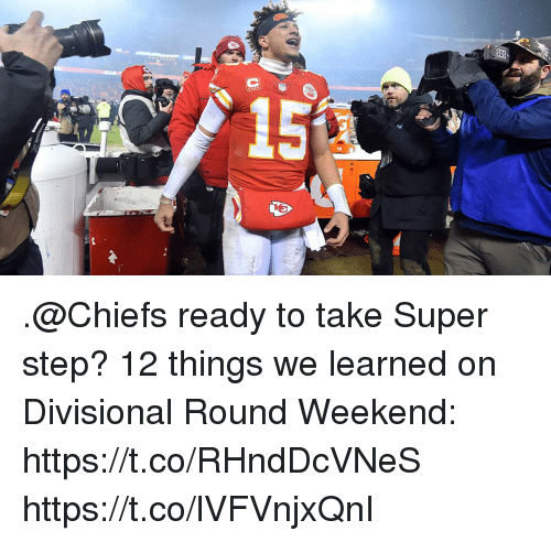 Memes, Chiefs, and 🤖: .@Chiefs ready to take Super step?  12 things we learned on Divisional Round Weekend: https://t.co/RHndDcVNeS https://t.co/lVFVnjxQnI
