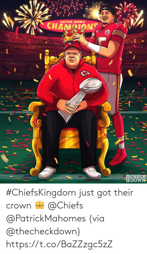 Memes, Chiefs, and 🤖: #ChiefsKingdom just got their crown 👑 @Chiefs @PatrickMahomes (via @thecheckdown) https://t.co/BaZZzgc5zZ