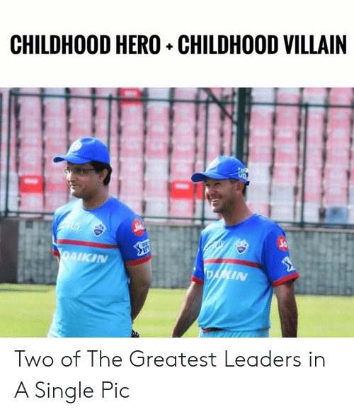 Memes, Villain, and Single: CHILDHOOD HERO+ CHILDHOOD VILLAIN  io  PAIKIN  IN Two of The Greatest Leaders in A Single Pic