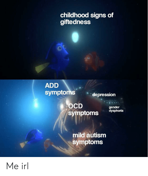 Childhood Signs of Giftedness ADD Symptoms Depression OCD