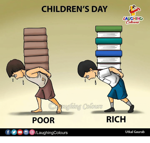 Indianpeoplefacebook, Day, and Rich: CHILDREN'S DAY  LAUGHING  Colowrs  Cughing Colours  POOR  RICH  Utkal Gaurab