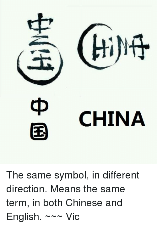 Chinese Mean And Meaning China H 中马中国 The Same