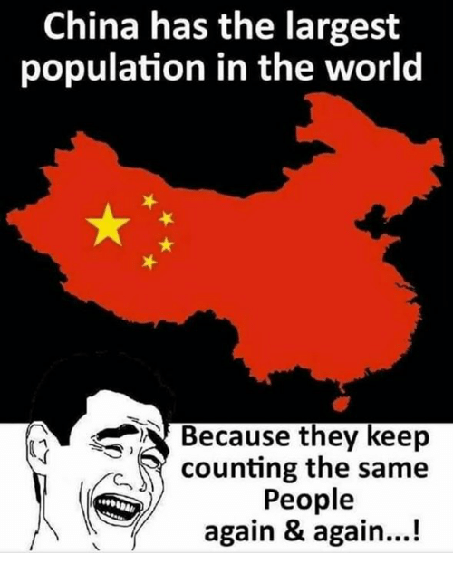 china has the largest population in the world because they keep