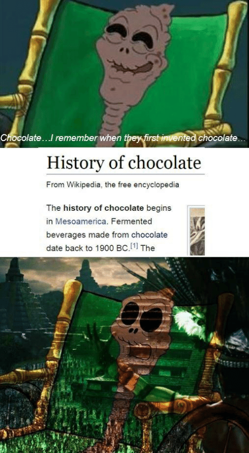 Chocolatei Remember When They First Invented Chocolate