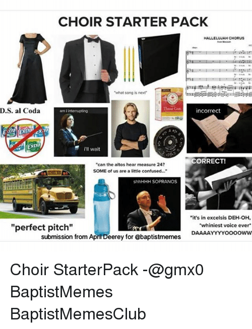 CHOIR STARTER PACK HALLELUJAH CHORUS What Song Is Next Theout Cout