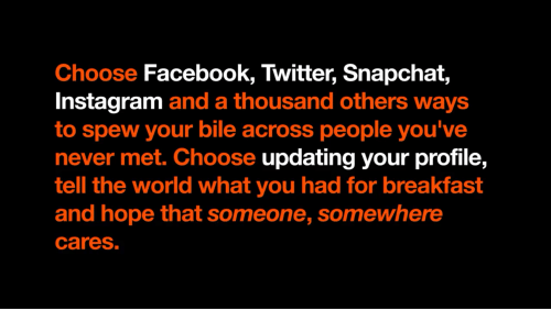 Choose Facebook Twitter Snapchat Instagram and a Thousand Others