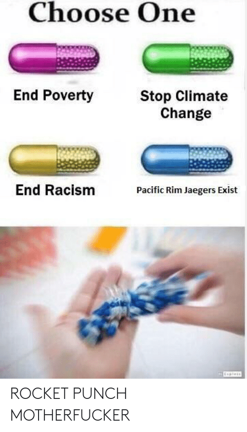Choose One End Poverty Stop Climate Change End Racism