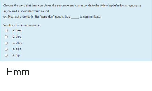Superb Star Wars, Best, And Definition: Choose The Word That Best Completes The  Sentence