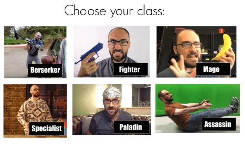 Paladin, Class, and Assassin: Choose your class:  Berserker  Fighter  Mage  Specialist  Paladin  Assassin