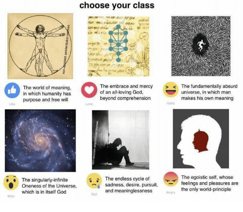 Choose Your Class The World Of Meaning In Which Humanity Has Purpose