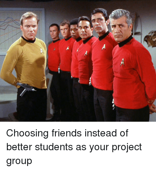 Friends, Funny, and Project: Choosing friends instead of better students as your project group