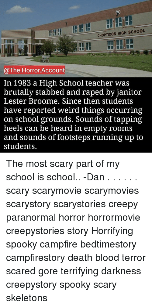 CHOPTICON HIGH SCHOOL the Horror Account in 1983 a High School