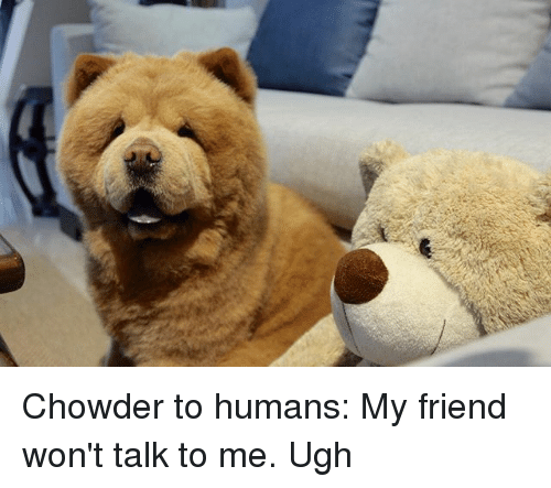 Chowder to Humans My Friend Won't Talk to Me Ugh | Meme on ME ME