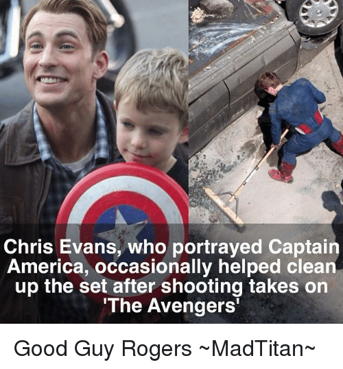 Chris Evans Who Portrayed Captain America Occasionally Helped