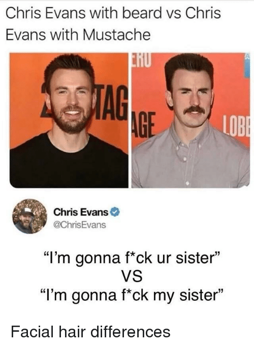 287b61ef34e Chris Evans With Beard vs Chris Evans With Mustache AG AGE LOB Chris ...