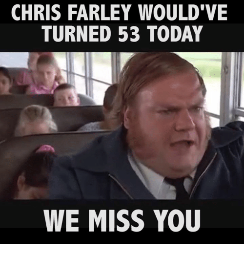 chris farley would ve turned 53 today we miss you 14637649 ✅ 25 best memes about we missed you we missed you memes,We Miss You Meme