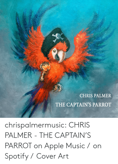 Apple, Funny, and Music: chrispalmermusic:  CHRIS PALMER - THE CAPTAIN'S PARROT on Apple Music / on Spotify / Cover Art