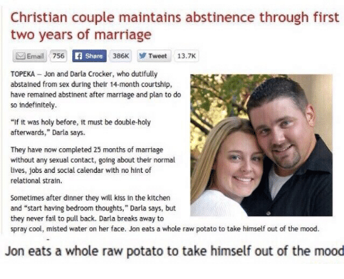 Not Christian marriages without sex you