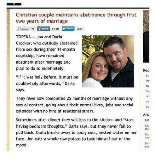 Abstinence during marriage