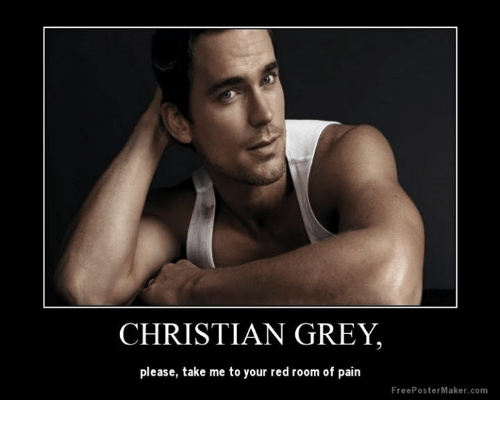 CHRISTIAN GREY Please Take Me to You Red Room of Pain Free Poster ...